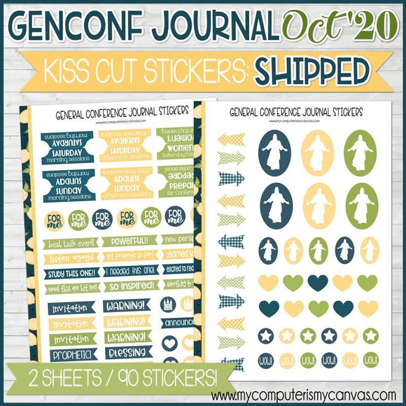 OCT 2020 General Conference Journal STICKERS: SHIPPED