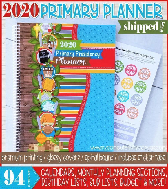 PRINT & SHIP: 2020 Primary Presidency Planner