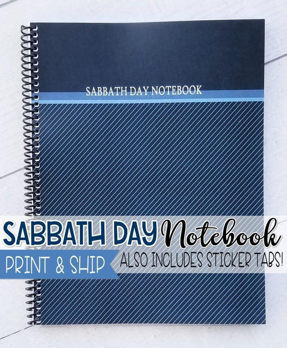 PRINT & SHIP: Sabbath Day NOTEBOOK