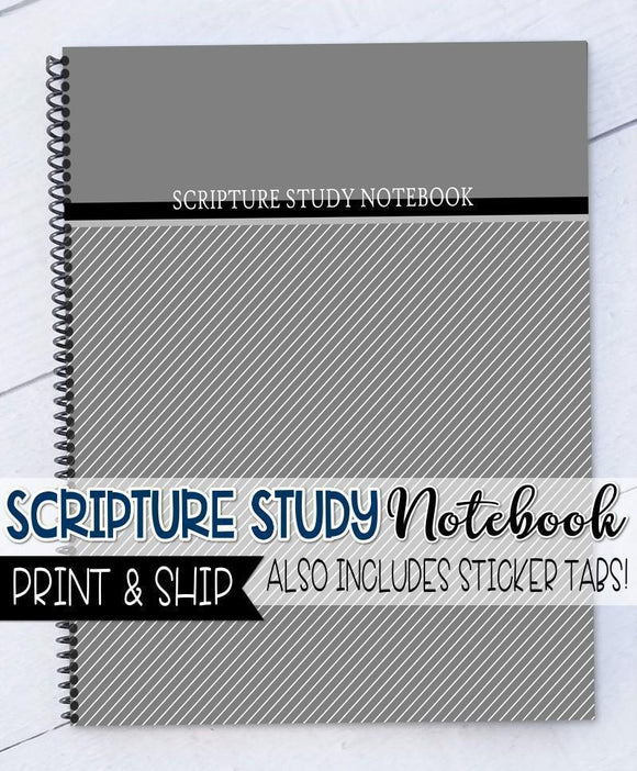 PRINT & SHIP: Scripture Study NOTEBOOK