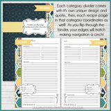 Recipe Binder Kit NAVY {Full Size 8.5x11} PRINTABLE-My Computer is My Canvas