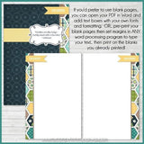 Recipe Binder Kit NAVY {Half Size 8.5x5.5} PRINTABLE-My Computer is My Canvas