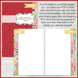 Recipe Binder Kit RED {Half Size 8.5x5.5} PRINTABLE-My Computer is My Canvas