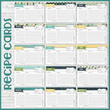 Recipe Cards & Dividers NAVY {4x6} PRINTABLE-My Computer is My Canvas