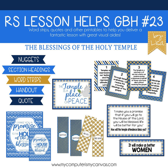 RS Lesson Kit {GBH Manual #23} PRINTABLE-My Computer is My Canvas
