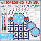 """ANCHOR Yourself With Gratitude"" Journal & Notebook {Gift Set; HALF SIZE} PRINTABLE-My Computer is My Canvas"