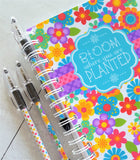 """BLOOM Where You Are Planted"" Journal & Notebook {Gift Set; HALF SIZE} PRINTABLE-My Computer is My Canvas"