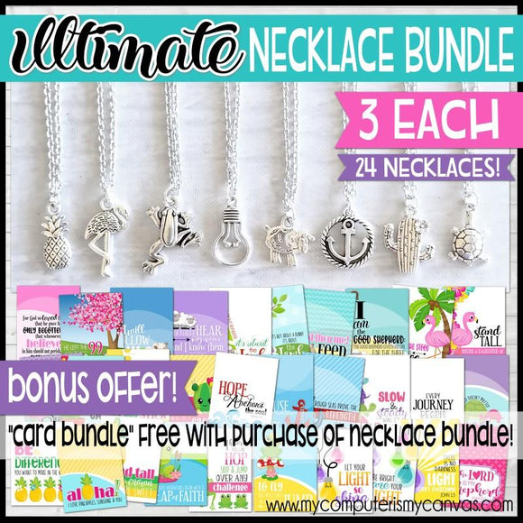 ULTIMATE Charm Necklace Bundle {24 Necklaces} SHIPPED