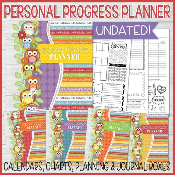 YW Personal Progress Planner Kit {FULL SIZE; UNDATED} PRINTABLE-My Computer is My Canvas
