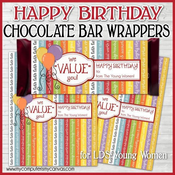 YW Value Birthday Candy Bar Wrapper PRINTABLE-My Computer is My Canvas