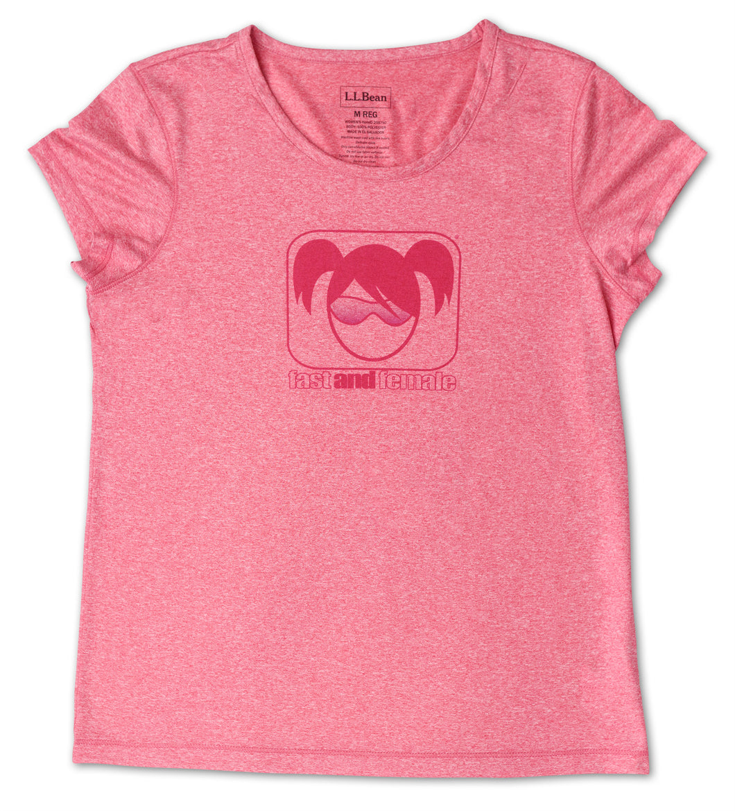 Fast and Female L.L.Bean Tech Tee, Pink -- SALE!