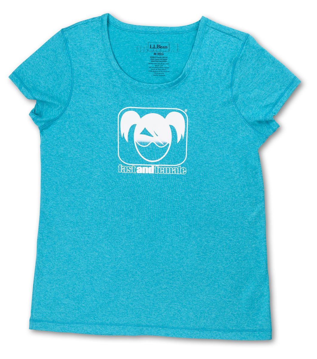 Fast and Female L.L.Bean Tech Tee, Teal