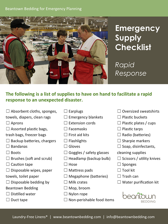 Free Emergency Supply Checklist