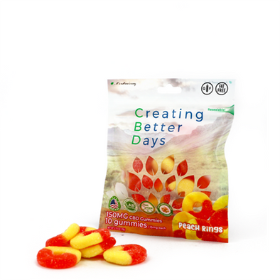 Nano-CBD Gummies Peach Rings 150MG
