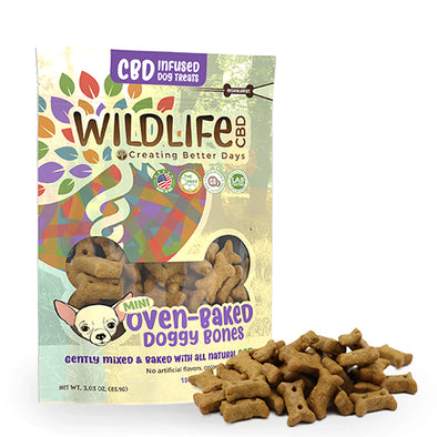 Nano-CBD Mini Dog Bone Treats 150mg