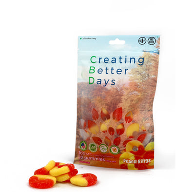 Nano-CBD Gummies Peach Rings 300MG