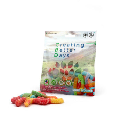 Nano-CBD Sour Gummy Worms 150MG