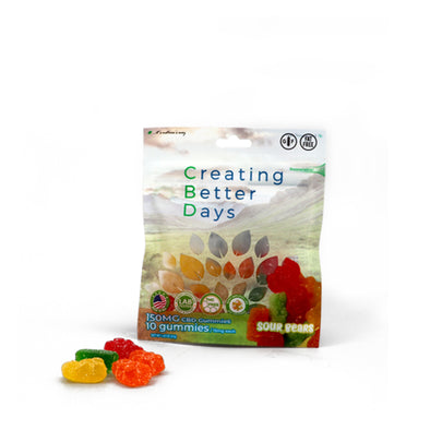 Nano-CBD Sour Gummy Bears 150MG