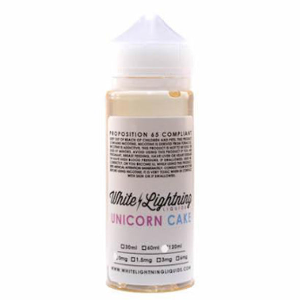 WHITE LIGHTNING UNICORN CAKE