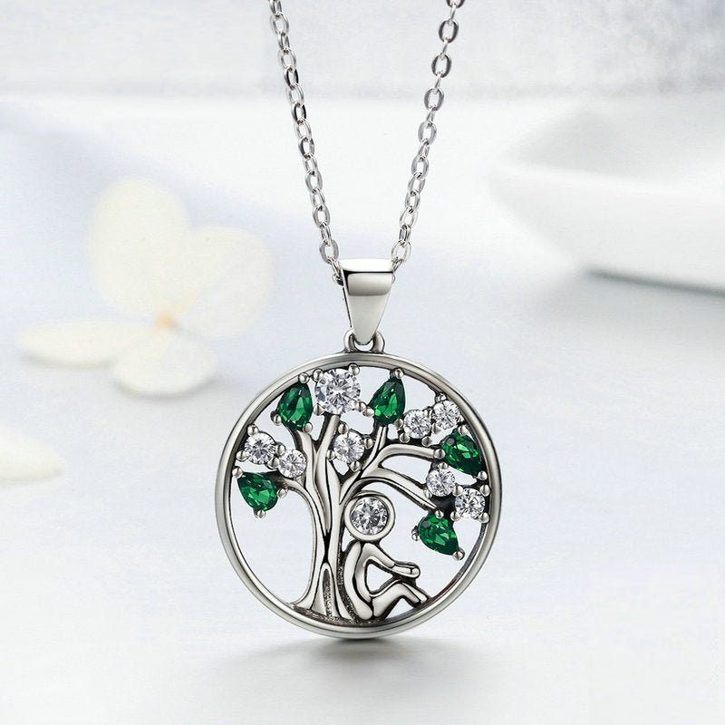 Family Roots Emerald, Sterling Silver