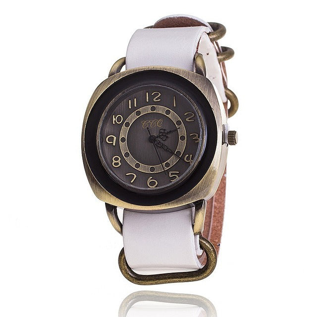 Garvin Leather Watch, White