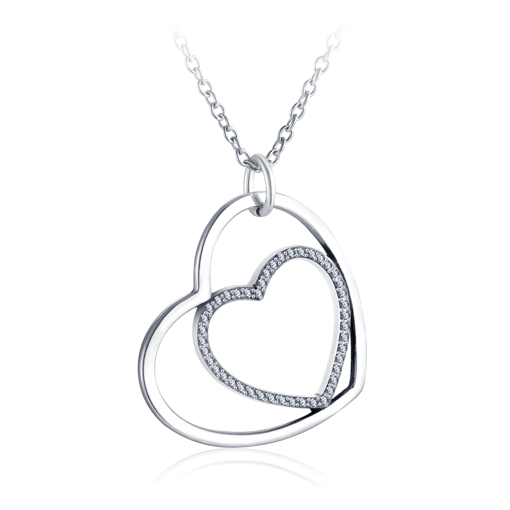 Hearts Embrace, Sterling Silver