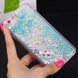 Flowing Glitter Heart Star Case for iPhone 5-5s/ 6-6s/ 6plus-6s plus/ 7-7plus