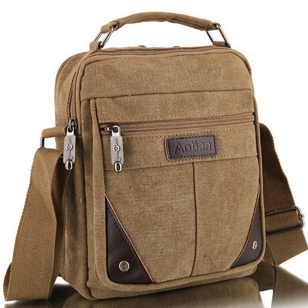 Cross Shoulder Canvas Travel Bag