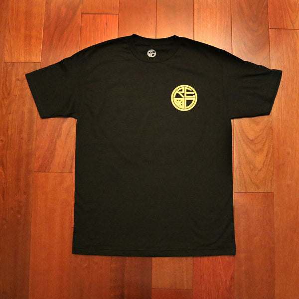 Classic Logo Tee - Black & Gold - Red Label Clothing Inc