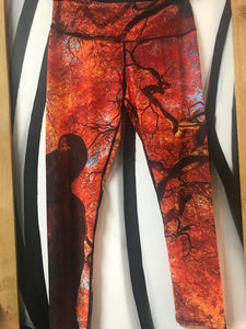 High Fashion Yoga Pants - Autumn Tree Breeze - Red Label Clothing Inc