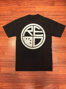 Classic Logo Tee - Black & Silver - Red Label Clothing Inc