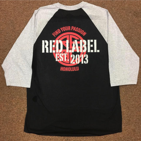 Find Your Passion Mens Raglan - Red Label Clothing Inc