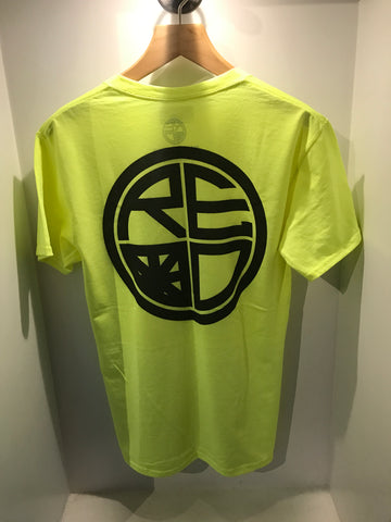 Classic Logo Mens Tee - Neon Yellow & Black - Red Label Clothing Inc