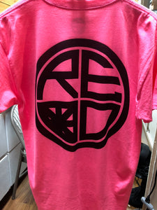 Classic Logo Tee - Neon Pink and Black - Red Label Clothing Inc