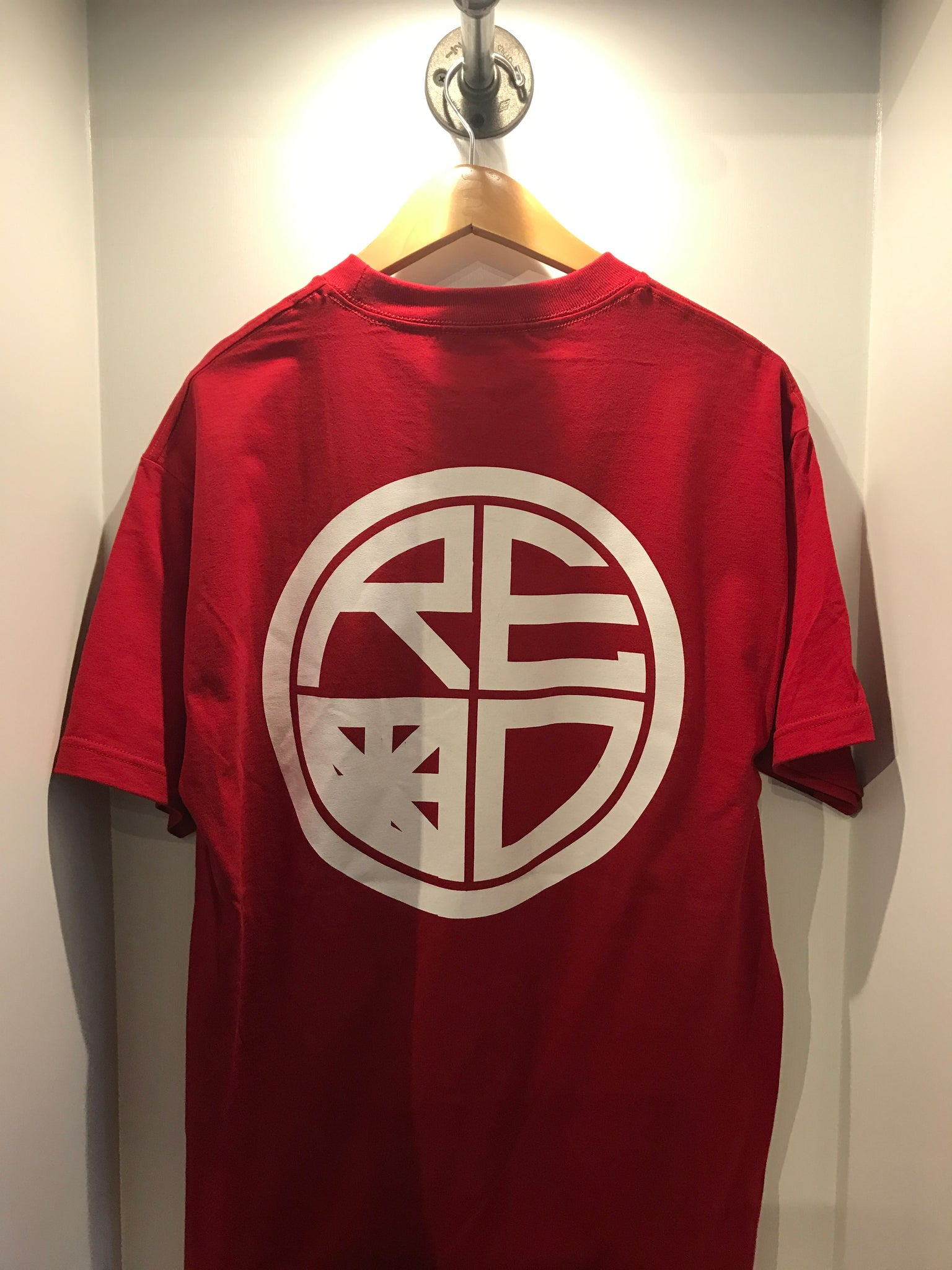 Classic Logo Mens Tee - Red & White - Red Label Clothing Inc