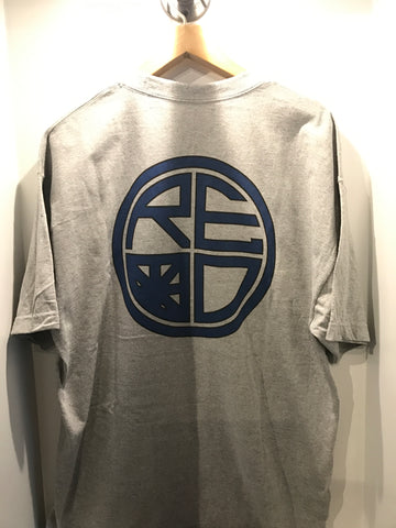 Classic Logo Mens Tee - Grey & Dark Blue - Red Label Clothing Inc