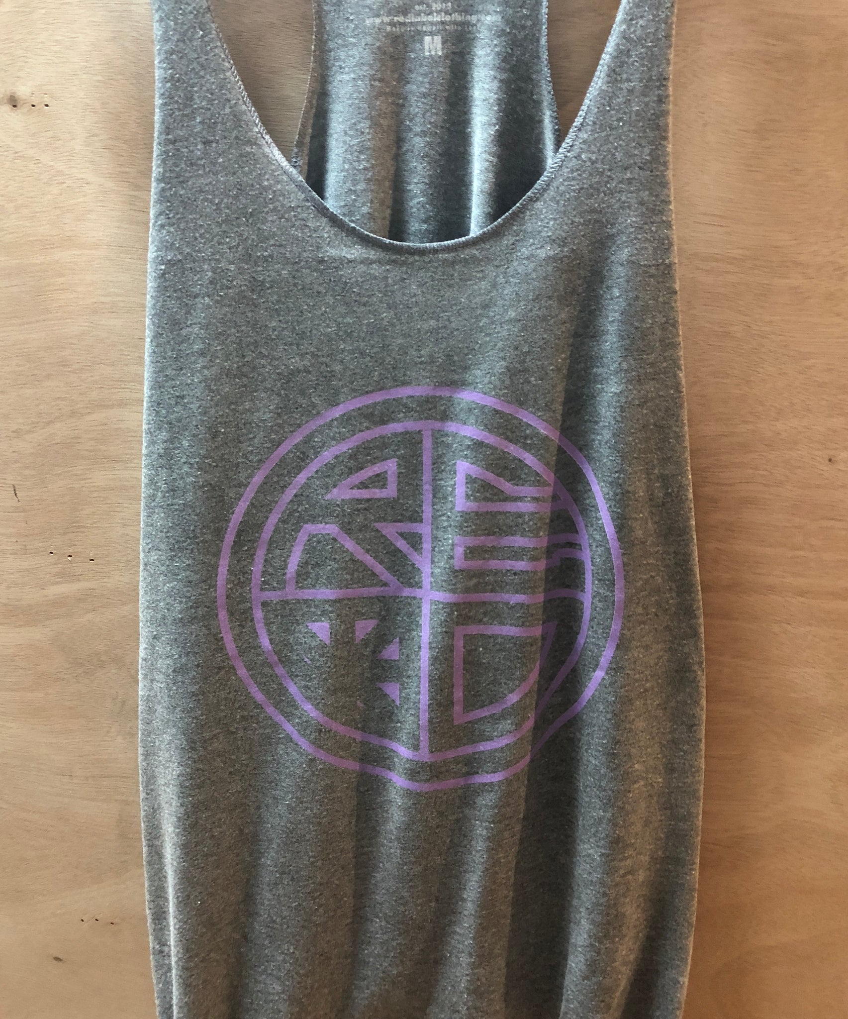 Classic Logo Outline Women's Tank Grey/Purple - Red Label Clothing Inc