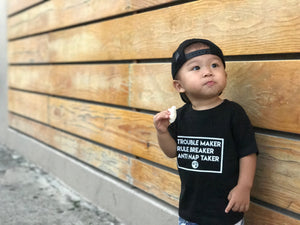 """Trouble"" Toddler T-Shirt - Red Label Clothing Inc"
