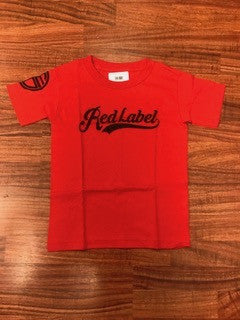 Script Logo Youth T-Shirt BLUE/RED/BLACK
