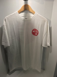 CLASSIC LOGO MENS TEE- WHITE & RED - Red Label Clothing Inc