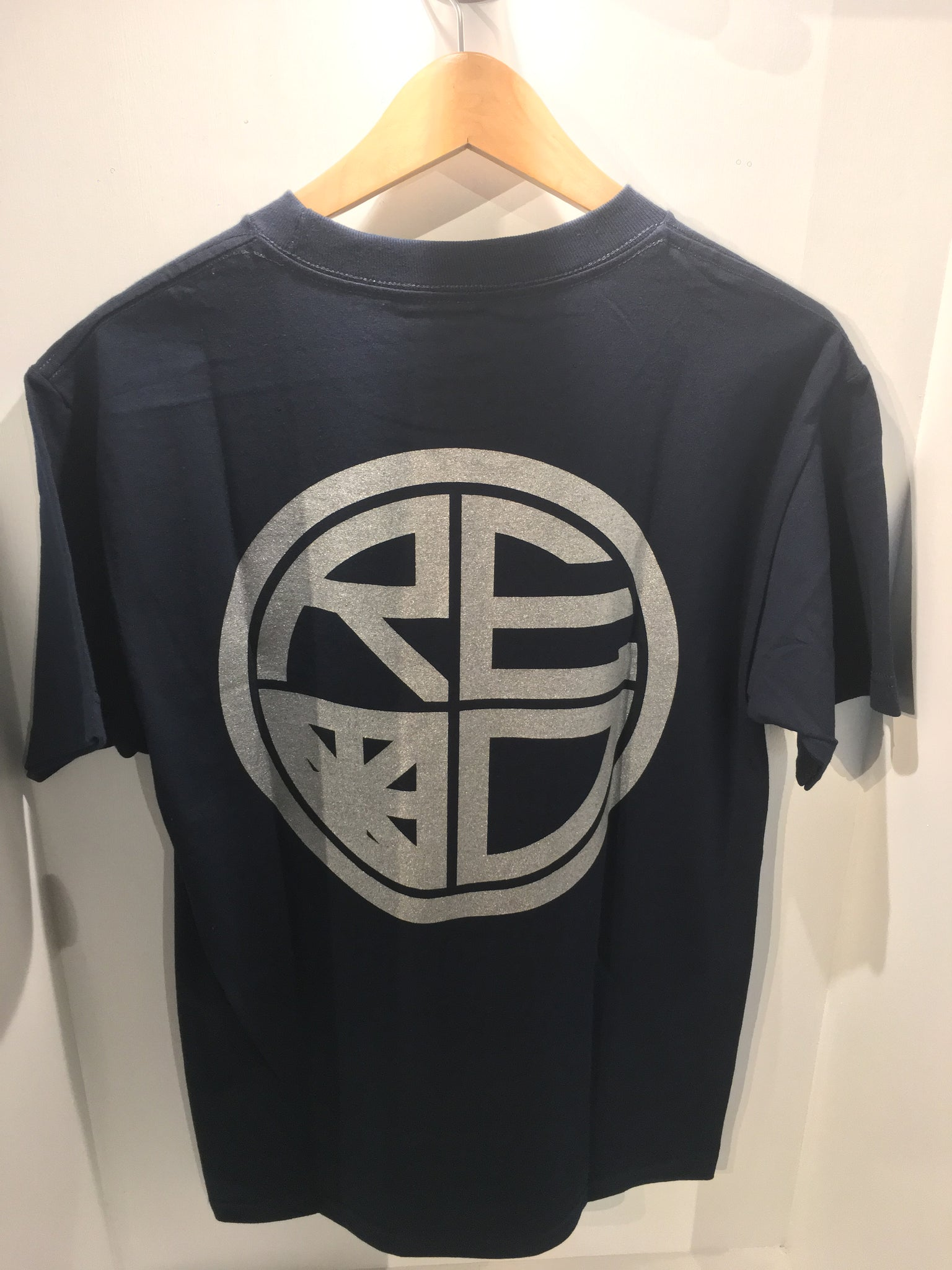 Classic Logo Mens Tee - Navy Blue & Silver - Red Label Clothing Inc