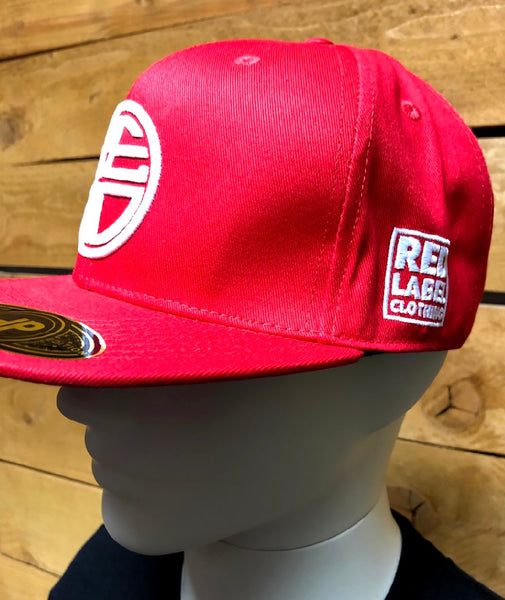 Red Classic Logo Snapback
