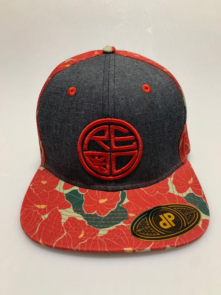 Red Anthurium Snapback