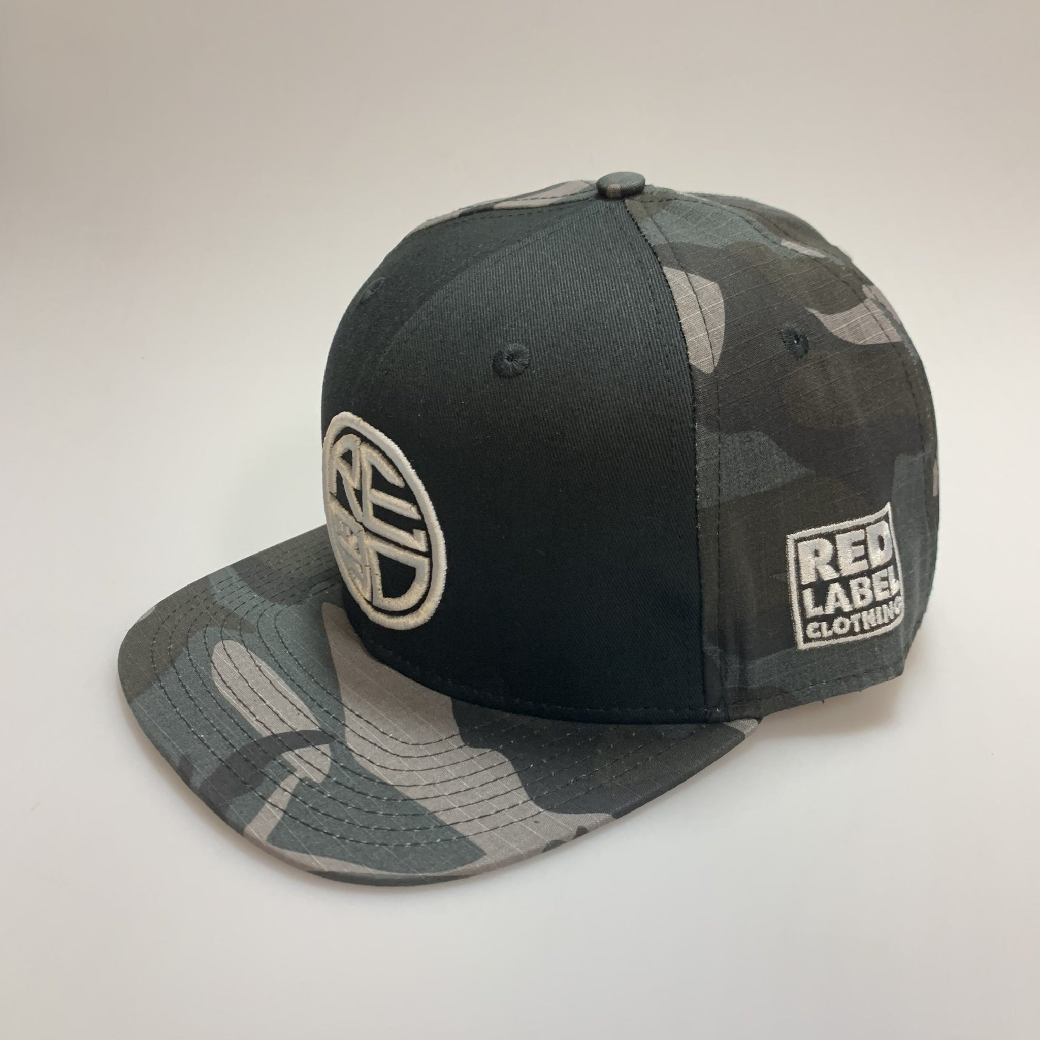 Black Gray Camo with Black Front Snapback
