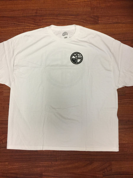 Classic Logo Tee - White & Black - Red Label Clothing Inc