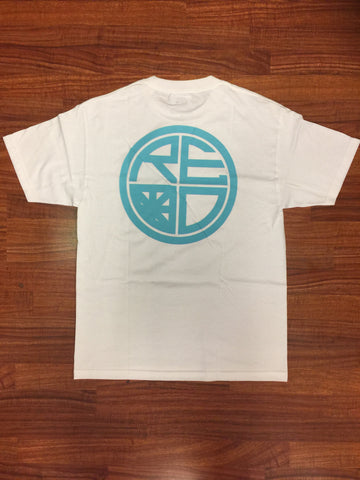 Classic Logo Tee - White & Tiffany - Red Label Clothing Inc