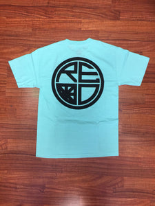 Classic Logo Tee - Tiffany & Black - Red Label Clothing Inc
