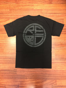 Classic Logo Tee - Black & Black - Red Label Clothing Inc