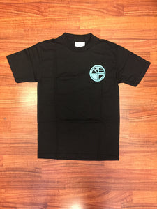 Classic Logo Tee - Black & Baby Blue - Red Label Clothing Inc