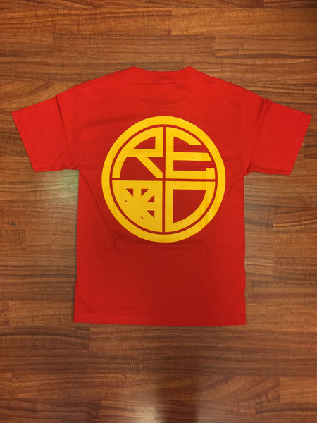 Classic Logo Mens Tee - Red & Yellow - Red Label Clothing Inc